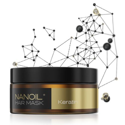Maschera alla cheratina per capelli danneggiati di Nanoil